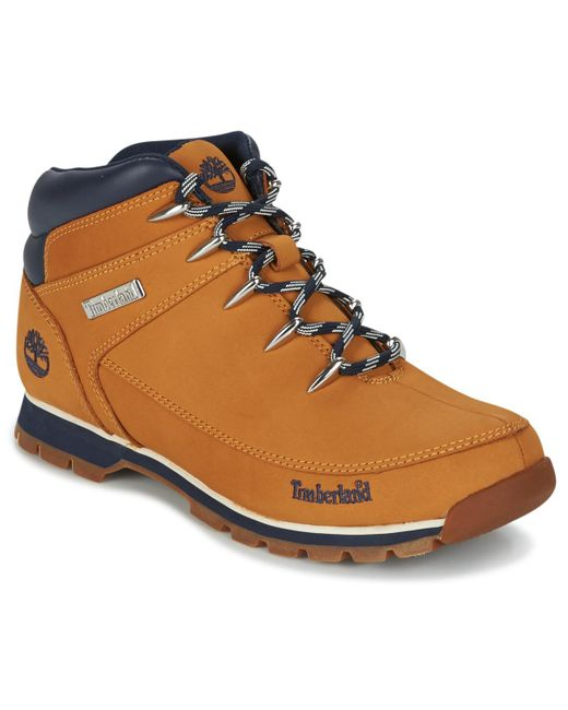 Timberland - Brown Euro Sprint Hiker Mid Boots for Men - Lyst