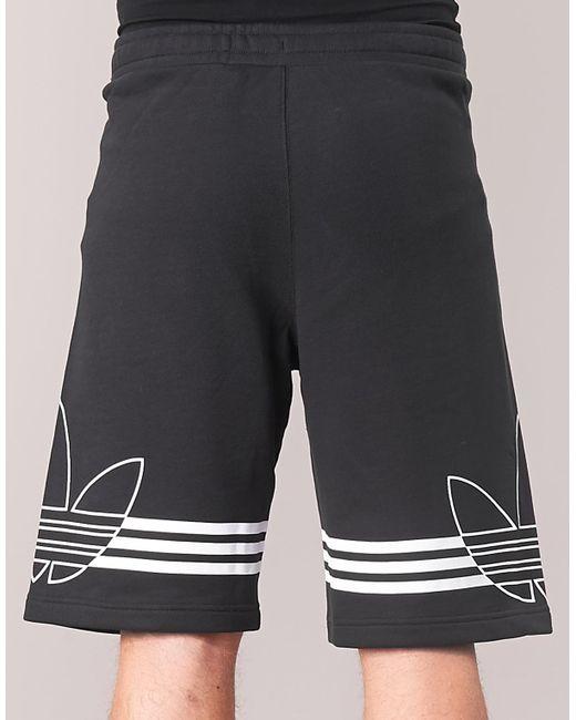 buy online 71a52 99d3f ... Adidas - Black Outline Short Shorts for Men - Lyst ...