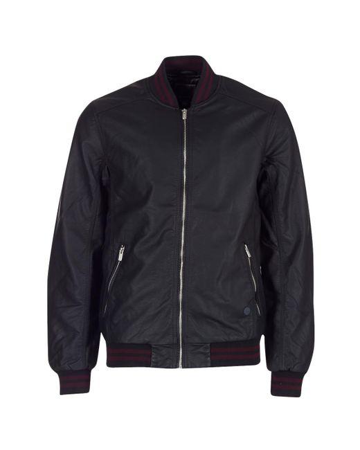 Bench - Black Pu Baseball Leather Jacket for Men - Lyst