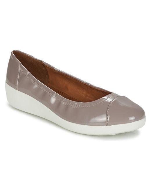 Fitflop - Pink F-pop Ballerina Shoes (pumps / Ballerinas) - Lyst