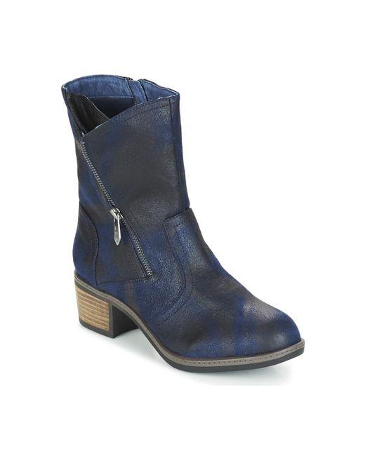 Les P'tites Bombes - Blue Blandine Mid Boots - Lyst