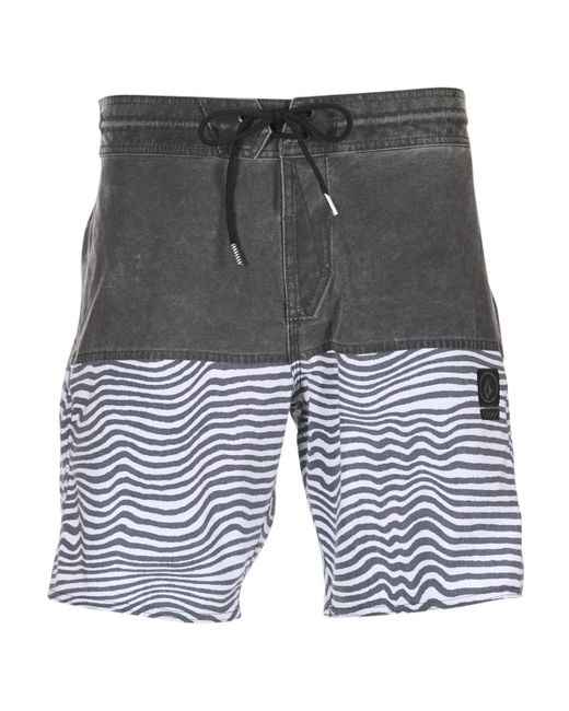 Volcom - Gray Vibes Jamer 19' Men's Shorts In Grey for Men - Lyst