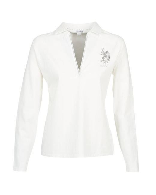 U.S. POLO ASSN. - Cristine Women's Polo Shirt In White - Lyst
