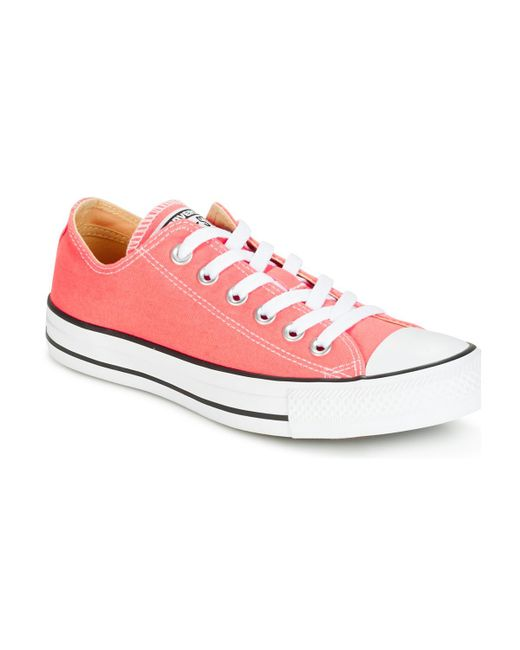 Converse - Pink Chuck Taylor All Star Trainers - Lyst