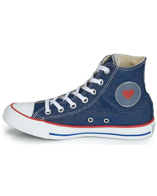 793a648eca5 ... Converse - Chuck Taylor All Star Sucker For Love Textile Hi Women's  Shoes (high- ...