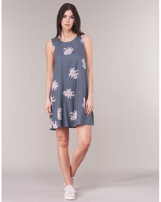 Roxy Harlem Vibes Women s Dress In Grey in Gray - Lyst 77be796fa17