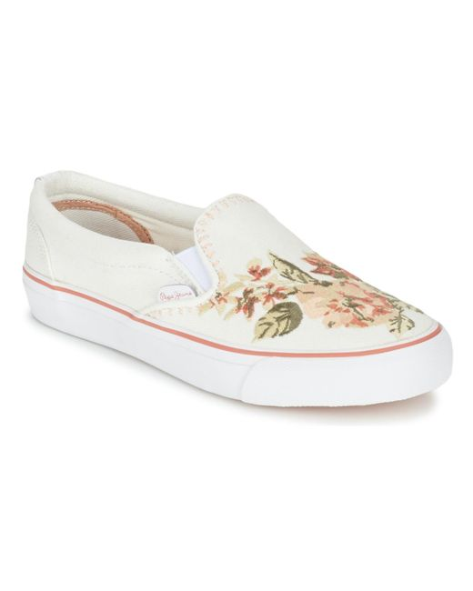 Pepe Jeans - White Alford Tropic Slip-ons (shoes) - Lyst