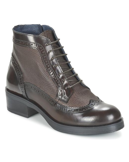 Betty London | Brown Foxine Mid Boots | Lyst