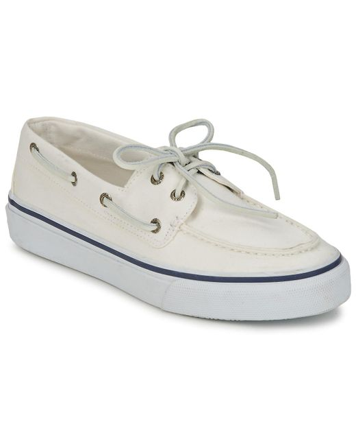 Sperry Top-Sider - Sperry Top Sider Bahama 2-eye Men Moc Toe Canvas White Loafer for Men - Lyst