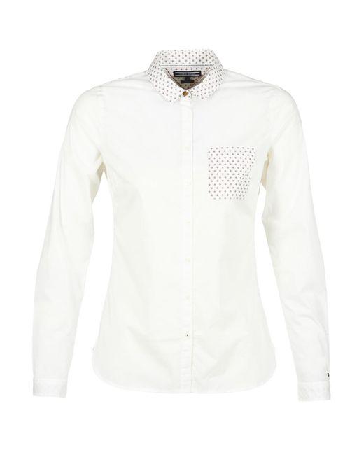 Tommy Hilfiger - White Kelia Mini Prt Shirt - Lyst