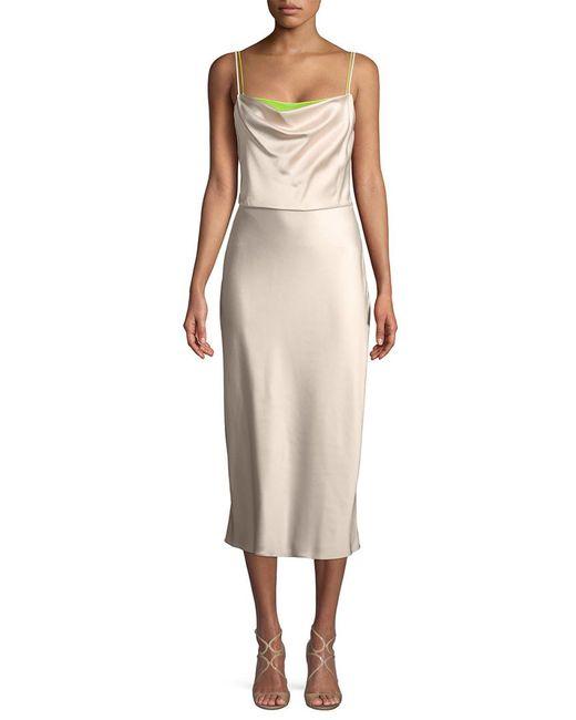 a01cd4ea245 Lyst - Jason Wu Drape Midi Dress in Pink - Save 45%