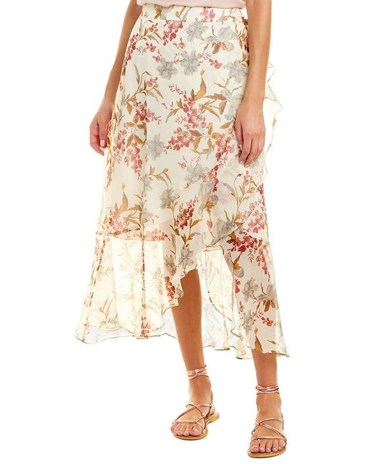Vince Camuto White Wrap Skirt