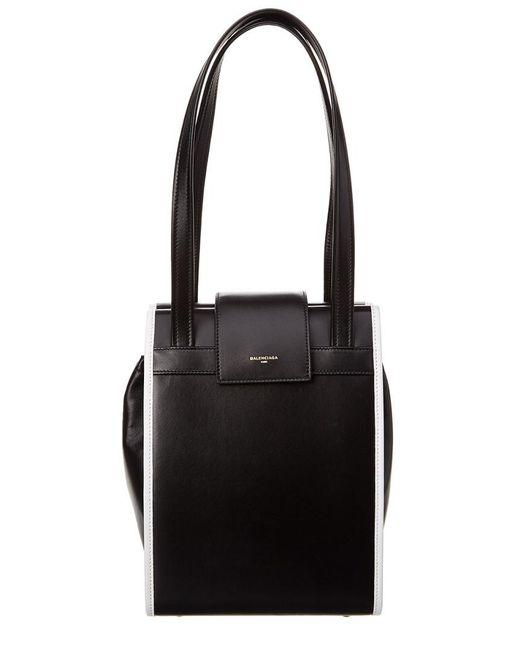 Balenciaga - Black Leather Handbag - Lyst