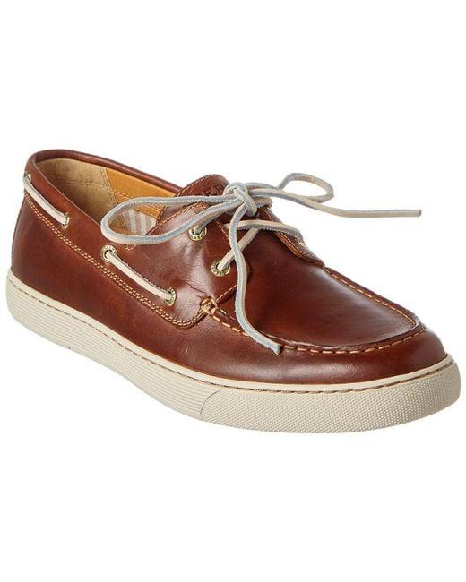 Sperry Top-Sider - Brown Men's Gold Sport 2-eye Leather Boat Shoe for Men - Lyst