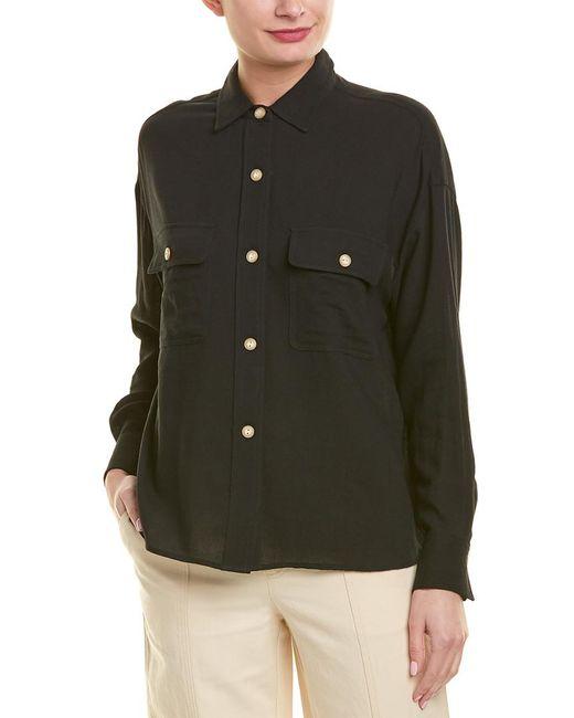 Vince - Black Utility Shirt - Lyst