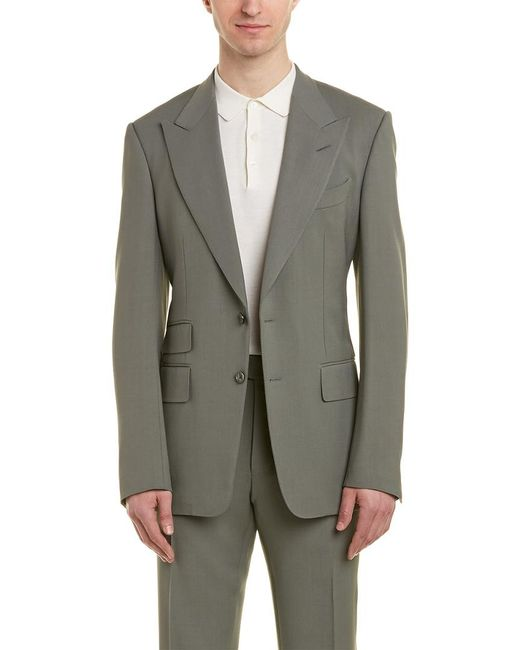 Tom Ford Green Shelton 2pc Wool-blend Suit With Flat Pant for men