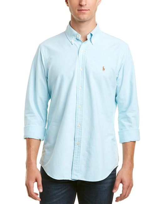 Ralph Lauren - Blue Polo Core Fit Woven Shirt for Men - Lyst