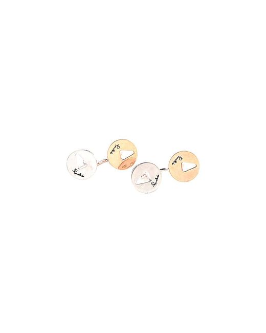 Pomellato - Metallic 10k Rose Gold & Silver Cufflinks - Lyst