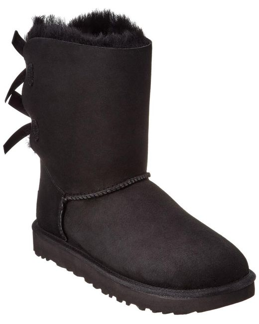 Ugg Black Bailey Bow Ii Water-resistant Twinface Sheepskin Boot