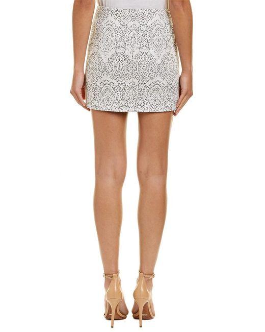 f3c6403f0b Lyst - Maje Jacquard Pencil Skirt in White - Save 55%