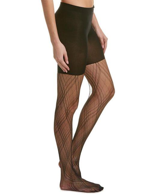 Spanx | Black ® Plaid Lace Tights | Lyst