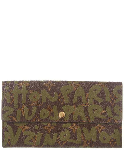 Louis Vuitton Multicolor Limited Edition Stephen Sprouse Green Graffiti Monogram Canvas Sarah Wallet