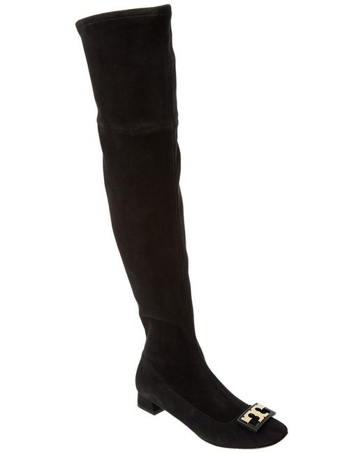 Tory Burch - Black Gigi Suede Over-the-knee Boot - Lyst
