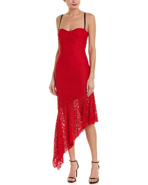 MILLY - Red Angelina Sheath Dress - Lyst