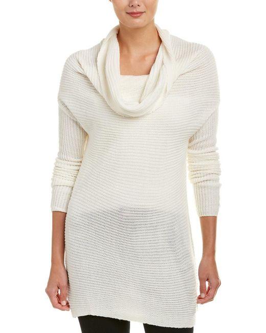 Bobi - White Cowl Neck Sweater - Lyst