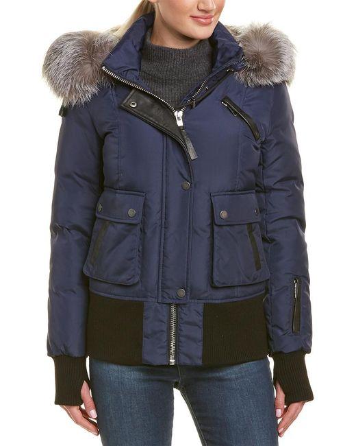 Nicole Benisti - Blue Fordham Leather-trim Jacket - Lyst