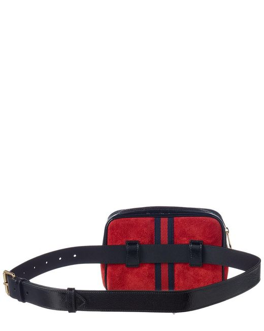 fc68c7922db ... Gucci - Red Ophidia Small Suede   Leather Belt Bag - Lyst