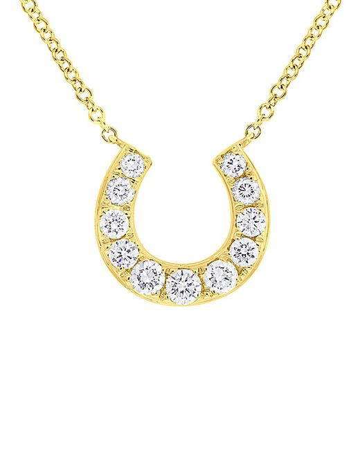 Diana M - Metallic . Fine Jewelry 14k 0.36 Ct. Tw. Diamond Horseshoe Necklace - Lyst