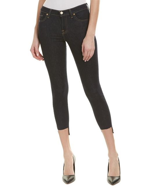 7 For All Mankind - 7 For All Mankind Gwenevere Rinsed Blue Ankle Cut - Lyst