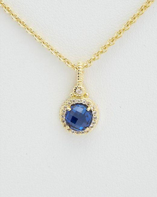 Judith Ripka - Metallic La Petite 14k Over Silver Necklace - Lyst