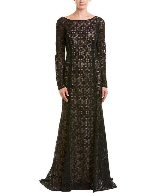 Oscar de la Renta - Black Silk-lined Gown - Lyst