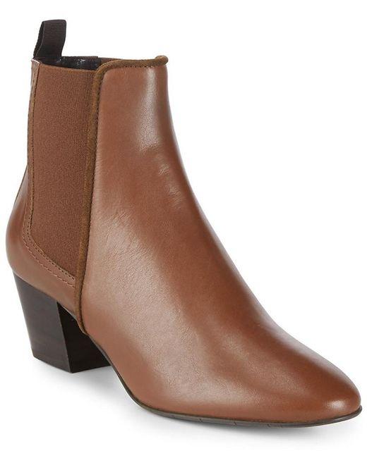 Aquatalia - Brown Felicite Almond Toe Boot - Lyst