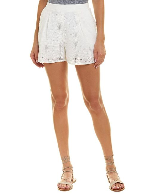 BCBGeneration - White Pull-on Pleated Shorts - Lyst
