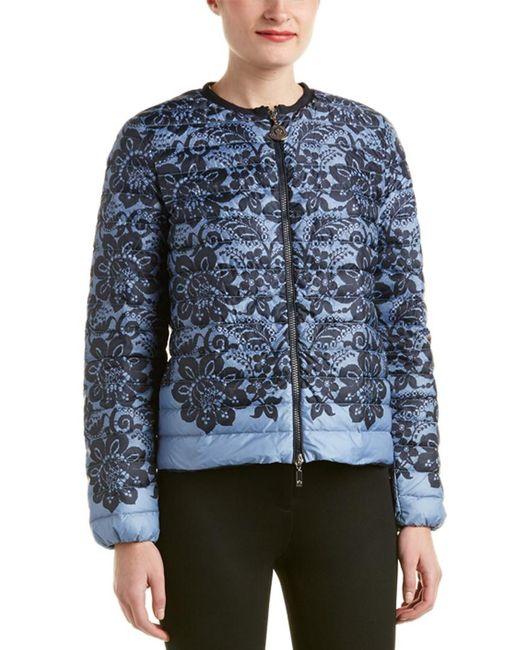 Moncler - Blue Down Jacket - Lyst