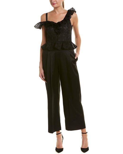 Rebecca Taylor - Black Malorie Silk Jumpsuit - Lyst