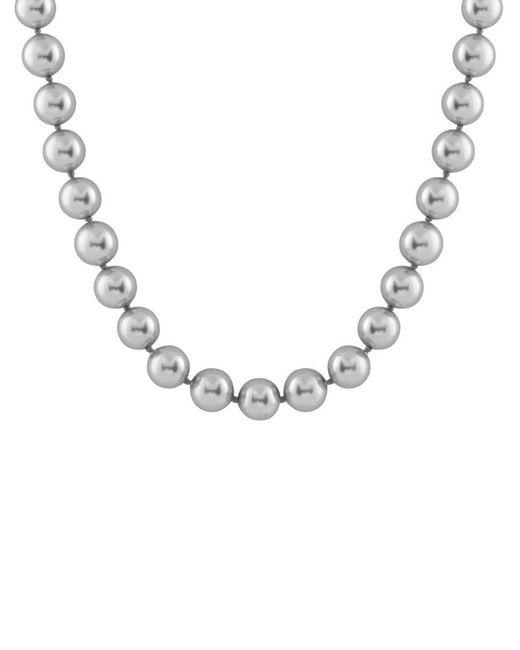 Splendid - Metallic Silver 16-17mm Shell Pearl Necklace - Lyst