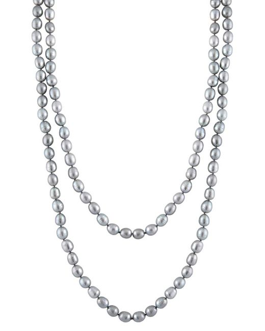 Splendid - Metallic 9-10mm Freshwater Pearl 60in Necklace - Lyst
