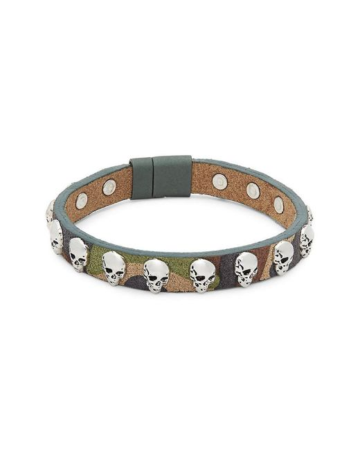 Tateossian - Green Camouflage Leather Bracelet for Men - Lyst