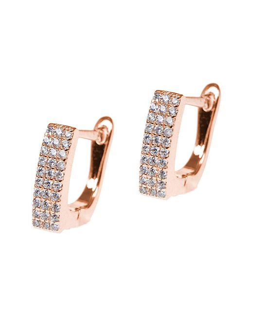 CZ by Kenneth Jay Lane - Multicolor Rose Gold Plated Hoops - Lyst