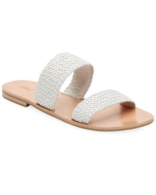 Frye - White Ruth Woven Slide Sandal - Lyst