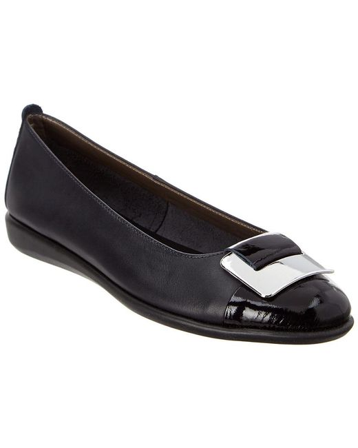 The Flexx - Black The Rise N Curry Leather Flat - Lyst