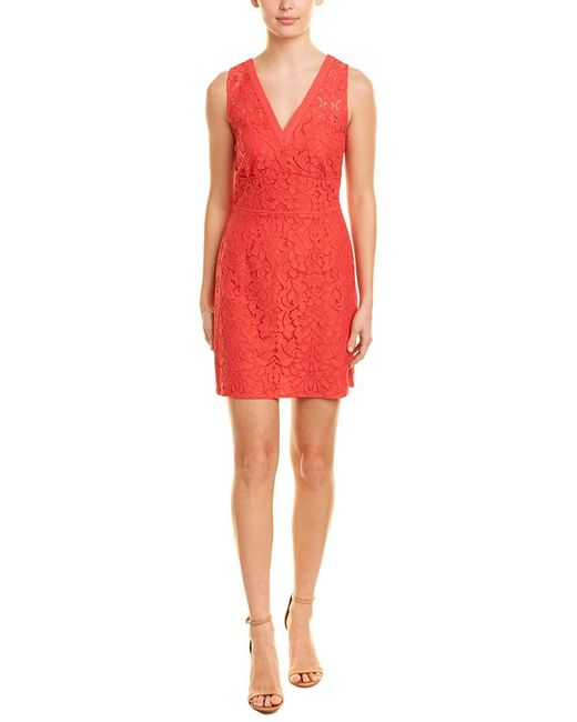 BB Dakota Red Lace A-line Dress