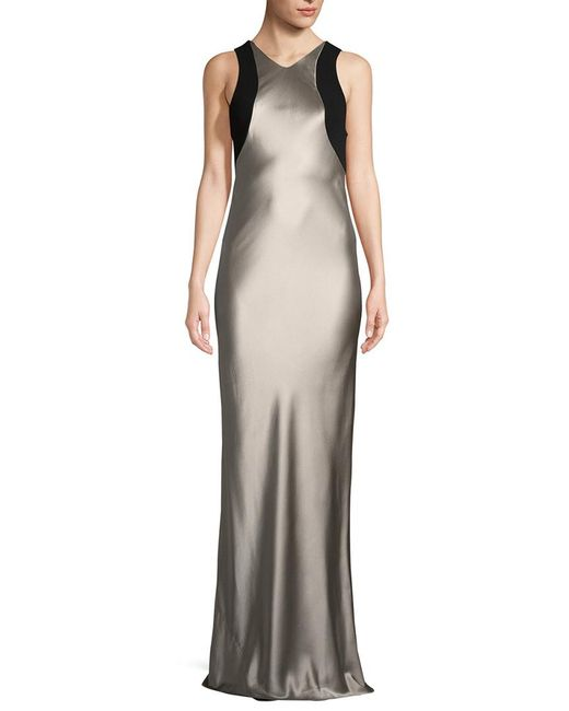 Narciso Rodriguez - Multicolor Charmeuse Long Silk Gown - Lyst