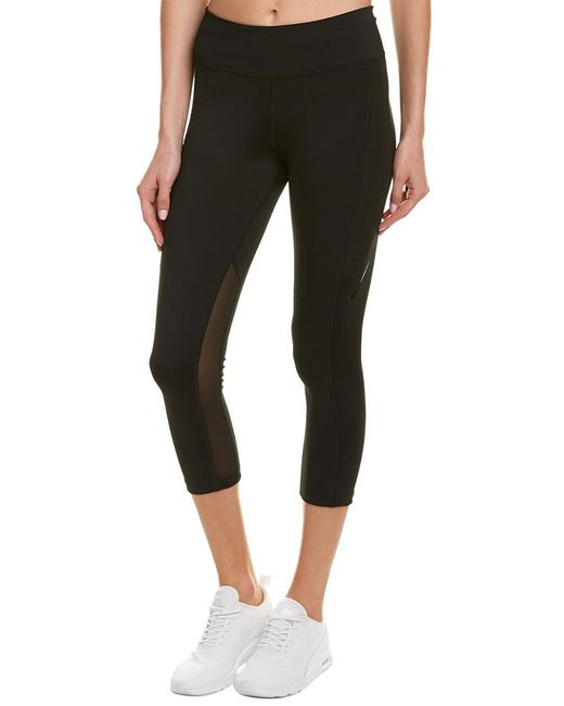 Nike - Black Power Pocket Lux Tight Fit Crop - Lyst