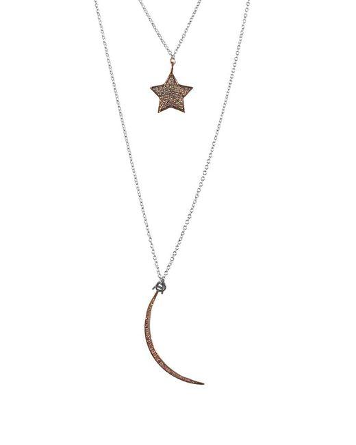 Adornia - Metallic Fine Silver 0.60 Ct. Tw. Diamond Necklace - Lyst
