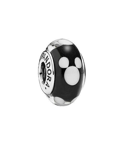 Pandora - Black Disney Jewelry Collection Silver Murano Glass Classic Mickey Charm - Lyst